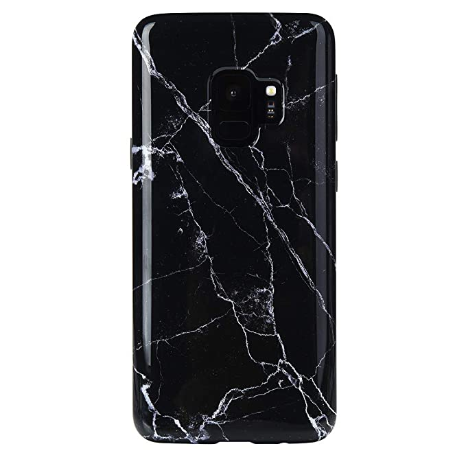 save off e73f9 58808 Black Marble Samsung Galaxy S9 Case - Premium Protective Cover - Cute Phone  Cases for Girls & Women [Drop Test Certified]