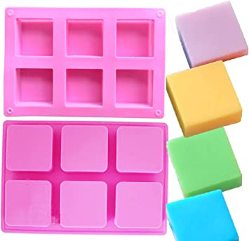 Ice Cube Tray Ozera 6 Cavities Rectangle Silicone Soap Molds Biscuit Chocolate Mold Baking Mold Cake Pan