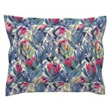 Roostery Protea Proteas Painted Floral South Africa Fynbos Pillow Sham by