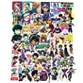 My Hero Academia Anime Stickers Decal Pack Teens Cartoon Laptop Stickers for Skateboard Snowboard Luggage Car Motorcycle 70pcs