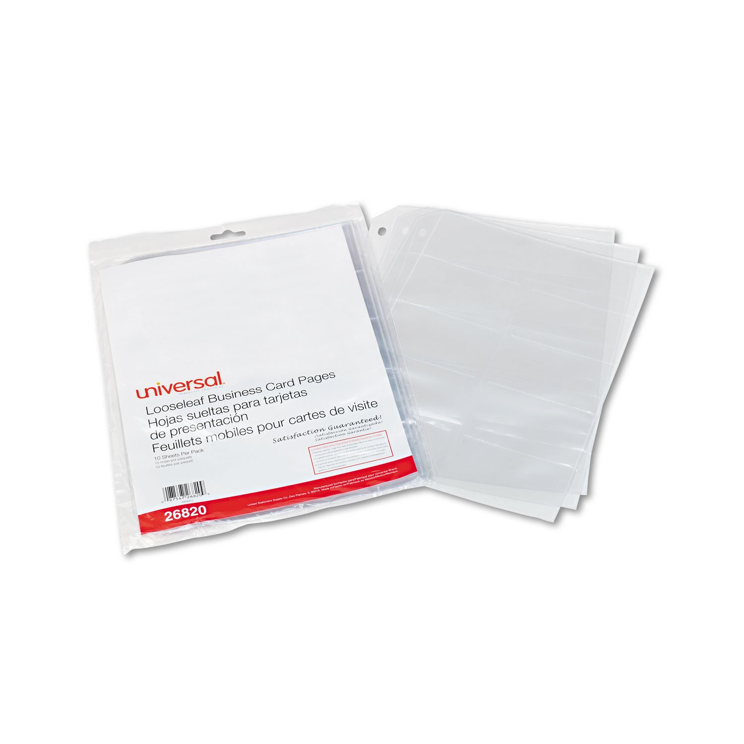 Amazon UNV Universal Business Card Binder Pages