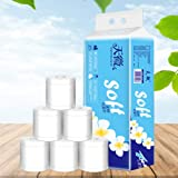 10 Rolls Toilet Paper Personal Bath Tissue Toilet Paper,Soft Toilet Paper Family Rolls Wipes Portable Restaurant Hotel Small Roll Paper towels Silky Smooth Three-Layer Paper Towels of domestic coreless