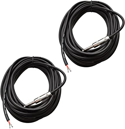 Seismic Audio QRW9Pair 9-Feet Raw Wire to 9/9-Inch Speaker Cable, 96  Guage, PA/DJ/Home Audio