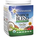 Sunwarrior - Warrior Blend, Raw, Plant-Based Protein, Vanilla, 20 Servings (1.1 lbs) (FFP)