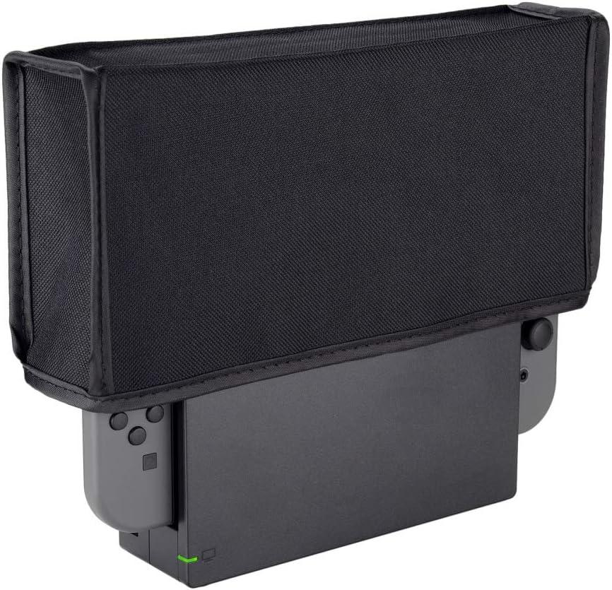 eXtremeRate Guardapolvo Cubierta de Nylon Compatible con Nintendo Switch Protector de Polvo Funda contra Polvo Forro Suave Antipolvo antiagua antirraya para Carga Base Dock(Negro): Amazon.es: Electrónica