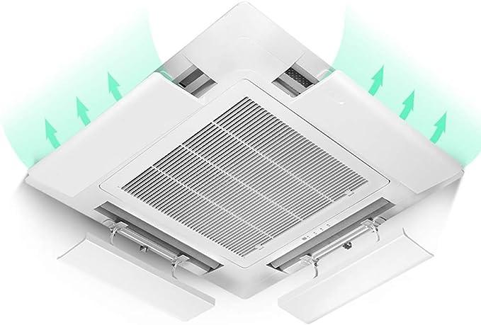 Aire acondicionado deflector de viento Aire Acondicionado Central Deflector De Aire, Soplado Anti Direccional Aire Acondicionado Frío Aire Acondicionado (4 Paquetes) (Size : 52 cm-Length): Amazon.es: Hogar