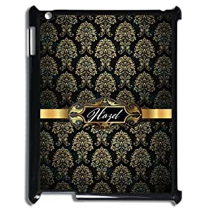 Black Gold Palace Pattern VS White Retro Handwritten Name Design Fashion Custom Luxury Cover Case With Plastic For IPad 2 3 4