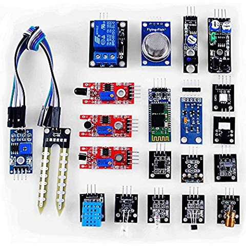 KOOKYE 20 in 1 Modules Sensor Kit w/ Temperature , Humidity , Sound , Infrared (20 In 1 Kit)