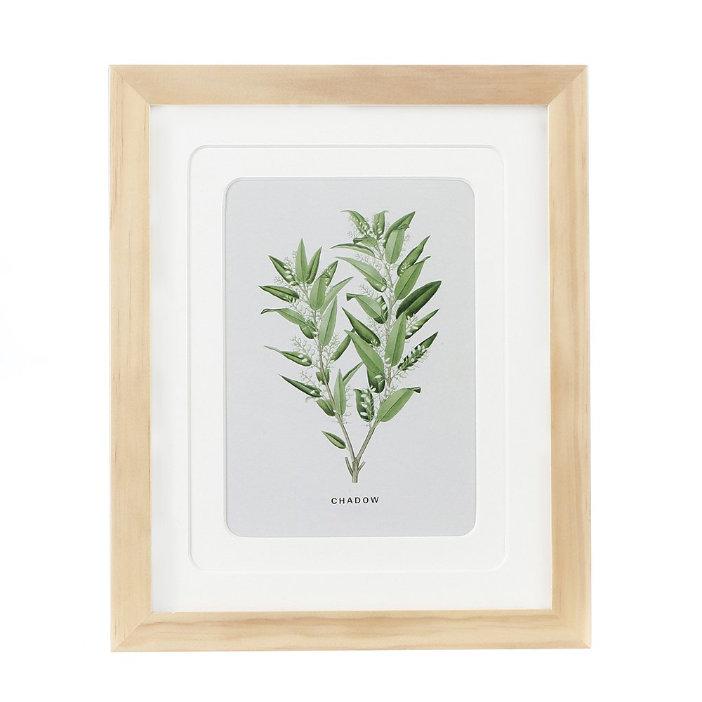 ENGLANT 8x10 Picture Frame Wood Photo Frame for Pictures 5x7 with Mat or 8x10 Without Mat Natural Color by ENGLANT