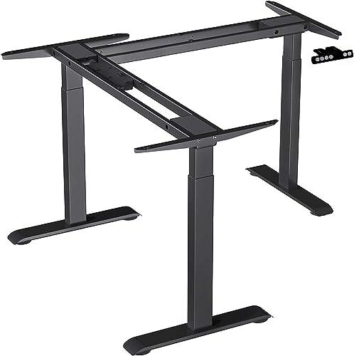 Electric Corner Stand Up Desk Frame