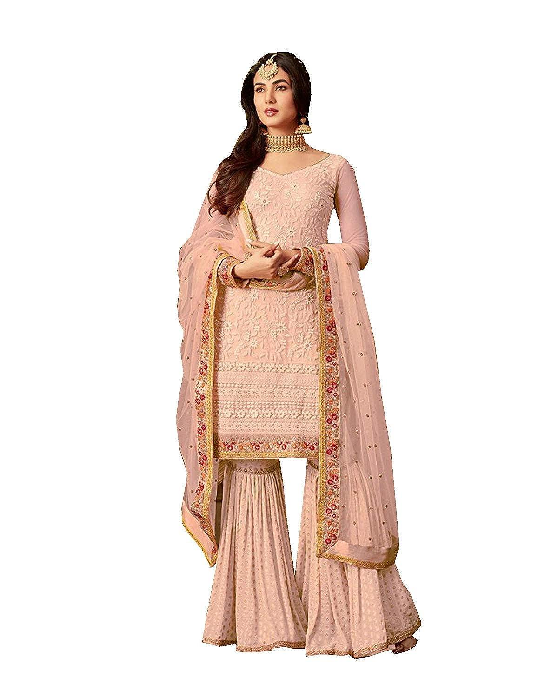 Choice 1 stylishfashion Net Latest Embroidered and with Beautiful Anarkali Designer Salwar Kameez