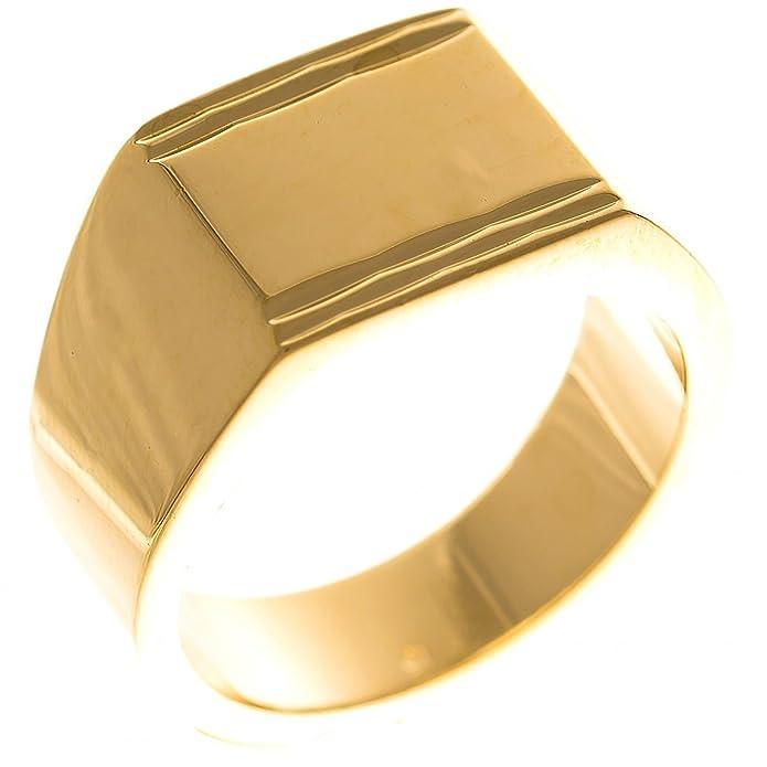 Gelbgold Herren Ring Damen Ring Siegelring 18 Karat 750 Amazing Gold ISADY