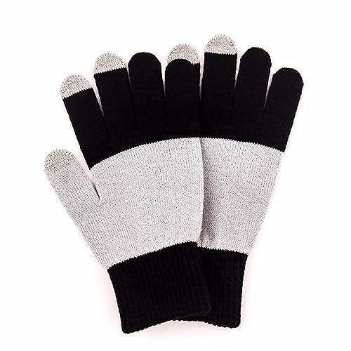 YALL Señoras Guantes Cálidos Tejidos Pantalla Táctil Tamaño Glovesblackone Casual