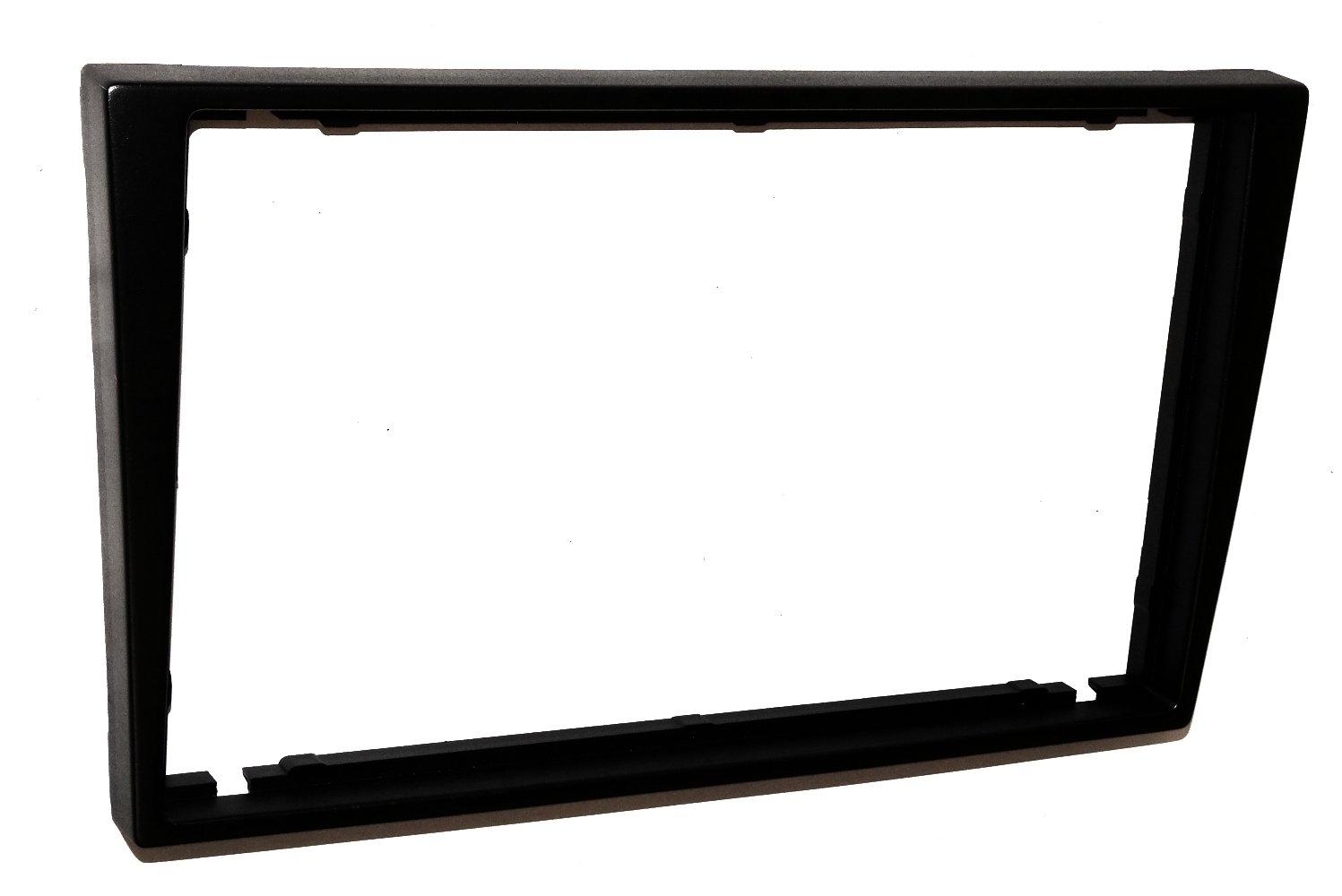 Aerzetix C4580/2/DIN riduttore per telaio autoradio nero