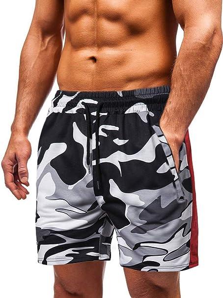 Yying Hombre Pantalones Cortos Deportivos - Camuflaje Cintura ...
