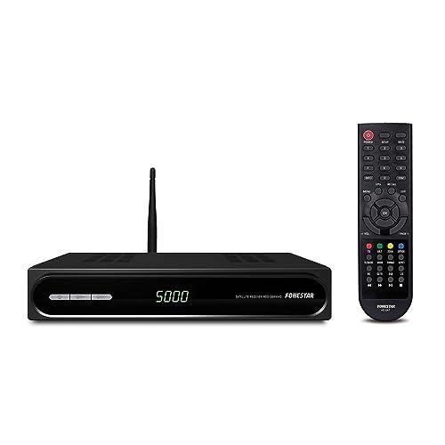 FONESTAR RDS-584WHD - Receptor Satélite HD (Full HD, WiFi, Ethernet), Color Negro