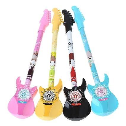 cuigu 1 pieza Guitarra Novedad Bolígrafo lápiz kawaii Gel creativos para escolares Alimentación Escuela Precio