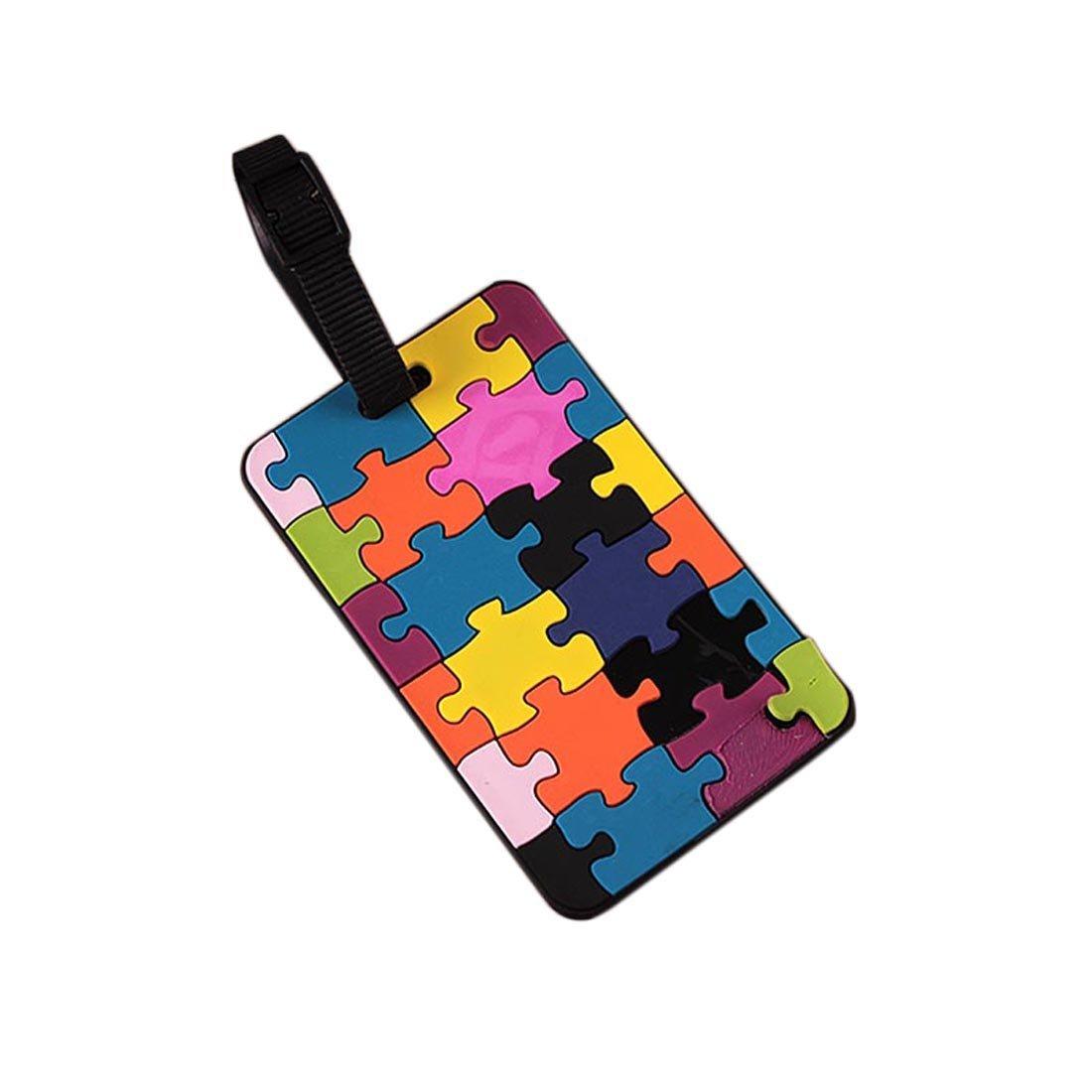 Fullkang Jigsaw Portable Secure Travel Suitcase ID Luggage Handbag Large Tag Label (#02)