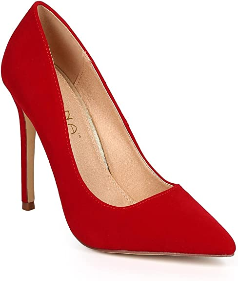 NEW Slip-On Pumps Shoes Pointy Pointed Closed Toe Stiletto High Heel Single Sole