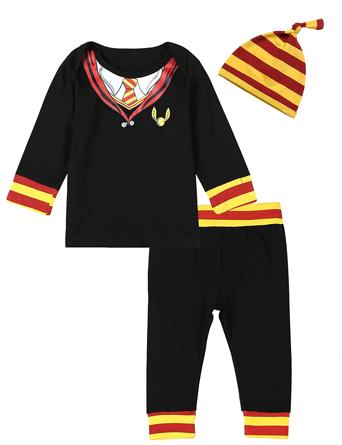 3PCS Baby Boys Girls Outfit Set Snuggle This Muggle Romper + Pants + Hat