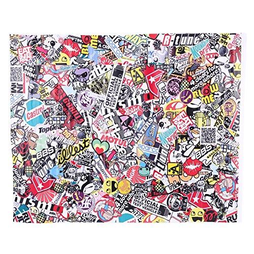 qiilu 50 75 cm autocollant graffiti autocollant stickers vinyles etanche pour t l phone frigo. Black Bedroom Furniture Sets. Home Design Ideas