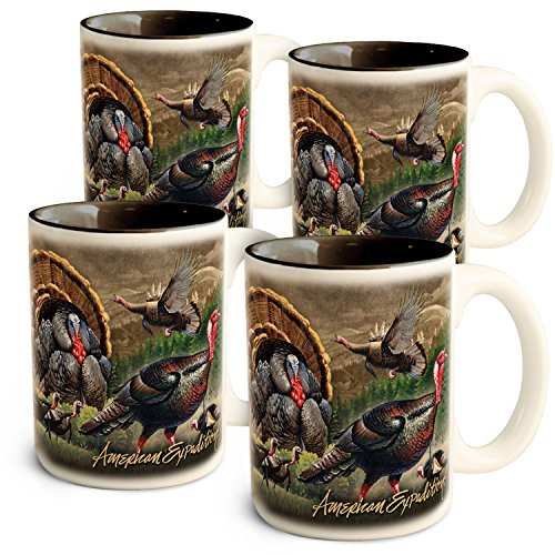 超激安 American Expedition Turkey Turkey Collage Coffee Mugs Expedition (4 B072Z8JCQC Set) [並行輸入品] B072Z8JCQC, 久井町:49f36095 --- movellplanejado.com.br