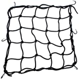 "Heavy-Duty 15"" Cargo Net for Motorcycles, ATVs - Stretches to 30"""