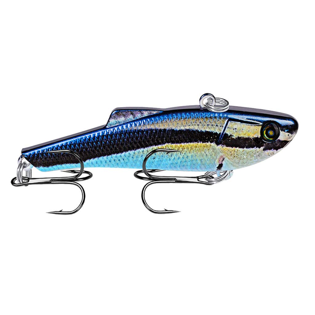 HighlifeS Fishing Bait Newest Artificial Fake Fish Bait More Colors Fishing Lure Bait Bionic Fishing Gear 1Pc (B)