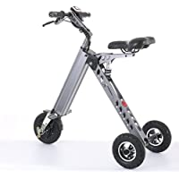 TopMate Mini Vélo électrique Tricycle Intelligent à la Mode Trottinette Tricycle électrique Vélo électrique Pliable Portable(Gris, Vert, Or)