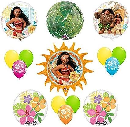 Disney Moana Tropical Party Supplies Balloon Decoration 15 pc Kit Anagram