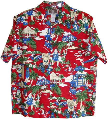 RJC Mens Hawaiian Santa More Beach Fun Shirt at Amazon Men's ...