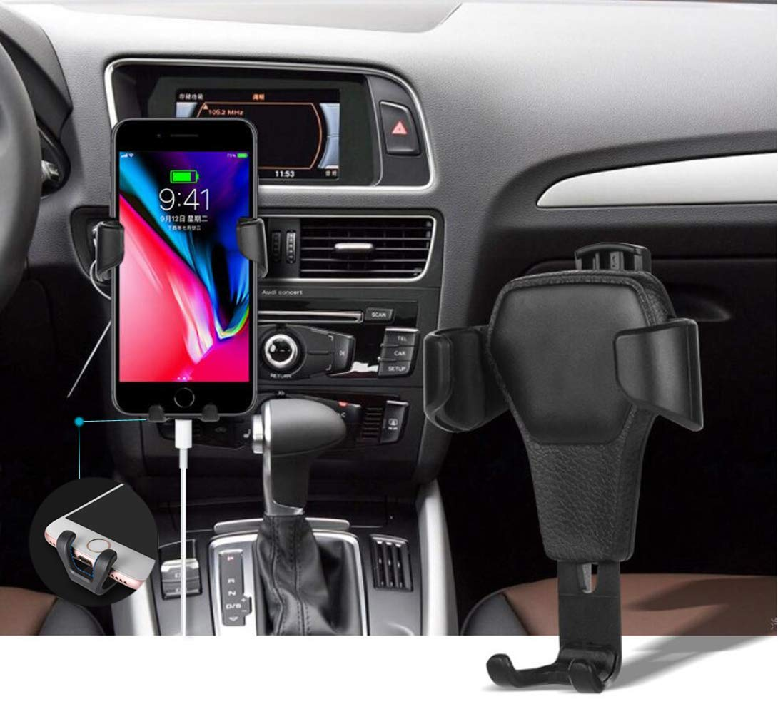 2PCS Cell Phone Holder for Car, ZOORE Auto-Clamping Air Vent Car Mount Holder Cradle, Universal Stand Holder Compatible with iPhone Xs XR X 8 7 6 6s Plus 5 5S 5C, Galaxy S10 / S10+ / S9 / S9 and More