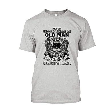23ea124b Old Man Security Guard Tee Shirt, Cool Sweatshirt, Hoodie   Amazon.com