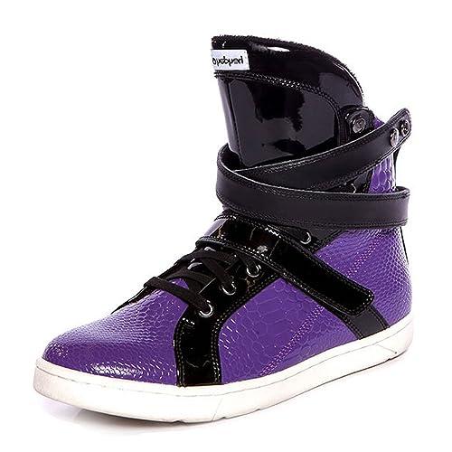 66b423edc398f Heyday Footwear Purple Anaconda Super Shift High Top Bodybuilding ...