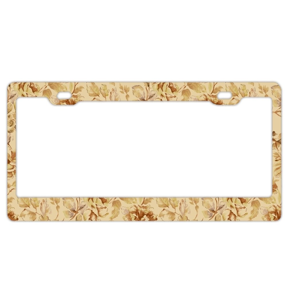 86a891976733 Amazon.com  GREDBH Vintage Flowers customized License Plate Frame Tag  Holder 2 Holes US Plate Covers  Sports   Outdoors