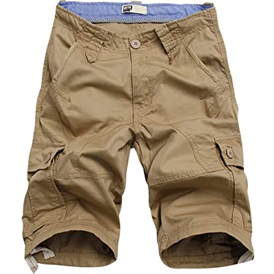 Flora Florida Men's Cargo Shorts Cotton Casual Relaxed Fit Multi - Pocket | Amazon.com