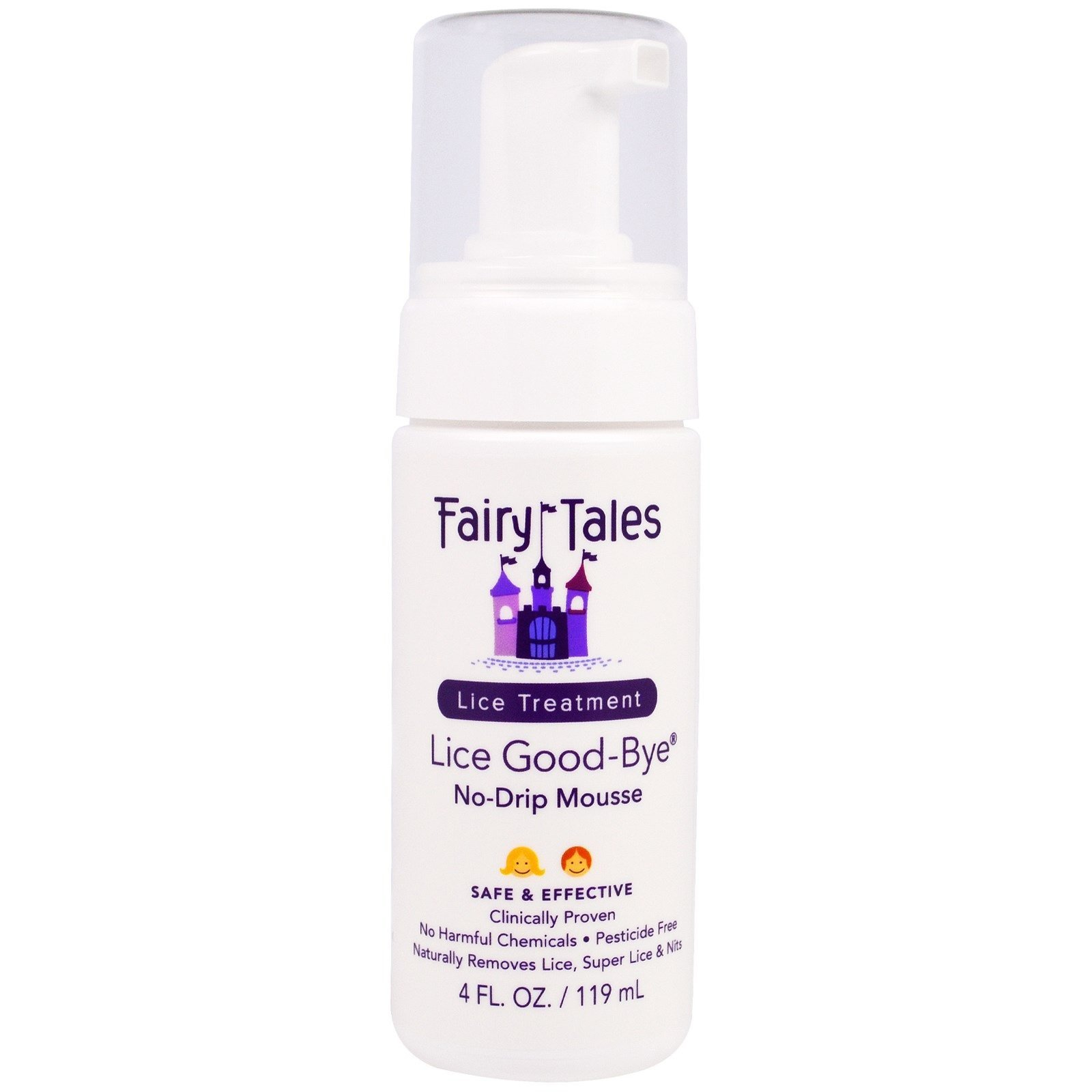 Lice Goodbye Nit Removal Kit with Comb by Fairy Tales for Kids - 4 oz Mousse by Fairy Tales