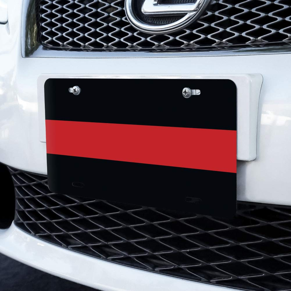 Thin Red Line Firefighters Firemen Fire Novelty Metal Vanity License Tag Plate Graphics and More NOVELTY.PLATE.00017