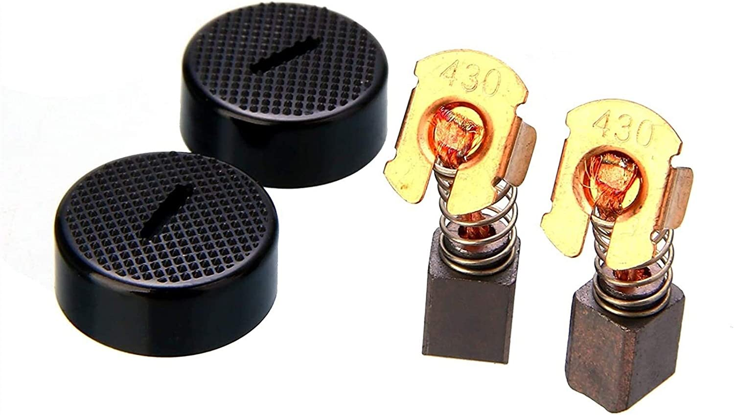 Mechanical Parts Extension Compression Spring 1 Pair Electric Motor Spring Carbon Brushes Replacement for BGA450 BGA452 DGA452 GA400 BGA402 with Cap for Electric Drill Color : As Show