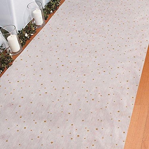 Gold & White Wedding Ceremony Aisle Carpet Runner 100ft x 3ft dso