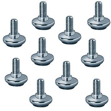 10 Stück Regulierschrauben M10 x 50 mm Verstellschraube Stellschrauben Stellfüße