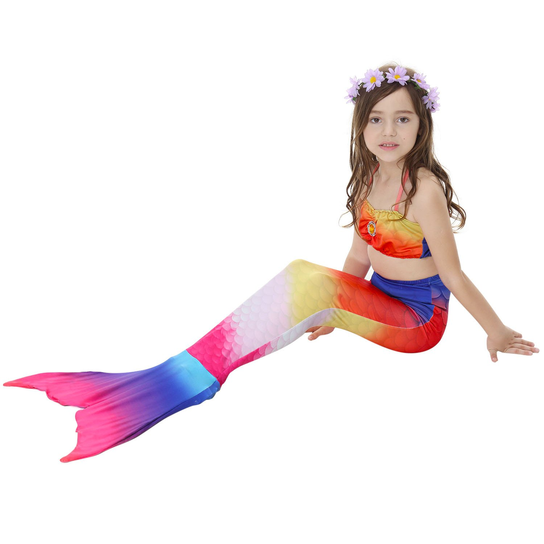Paisdola Girls cosplay Mermaid Tail Princess Bikini Set Swimsuit Costume mermaid outfit