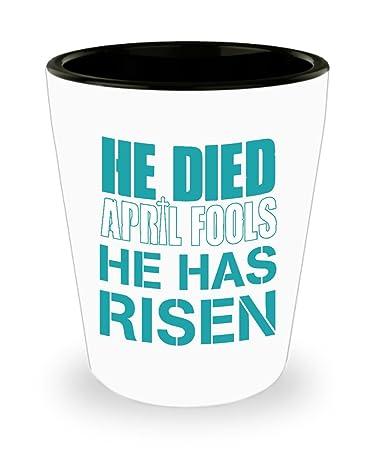 Amazon he has risen jesus easter shot glass easter gifts he has risen jesus easter shot glass easter gifts shot glasses saying negle Gallery