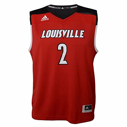info for 9a2bf 7b999 adidas Louisville Cardinals NCAA Youth Red Official March Madness  2  Replica Road Basketball Jersey (