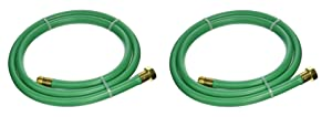 "Swan Leader Hose with 5/8"" Diameter by 6 Foot - 2 Pack, Male/Female"