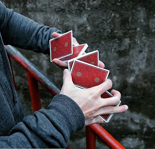USPCC Visa Gold Red Rare Limited Custom Playing Cards - Professional Cardistry Practitioner & Magician's Deck
