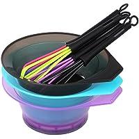 Anself 2 in 1 Hair Dyeing Bowl & Hair Whisk Dye Cream Paint Stirrer for Barber Hair Dyeing Kit DIY Hairdressing Styling Tool Random Color