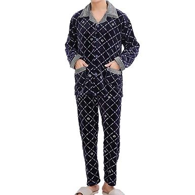 2475975a25965 Ensembles de Pyjama Polaire Warm pour Hommes, vêtements de détente  Thermiques Ensemble de Pyjama Hommes