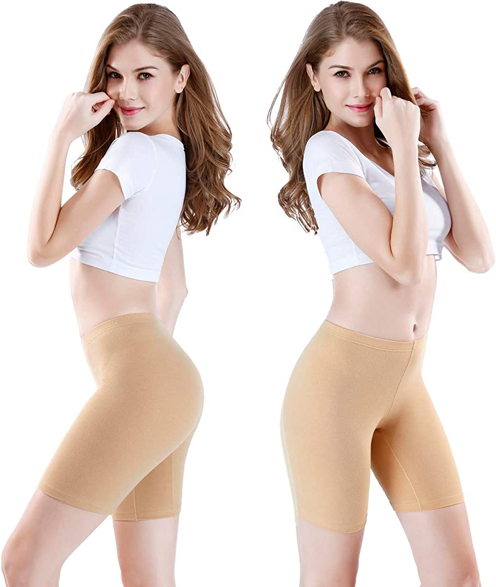 wirarpa Ladies Safety Boxer Shorts Cotton Anti Chafing Long Leg Knickers Underwear Womens Boy Shorts Leggings for Under Dresses Multipack