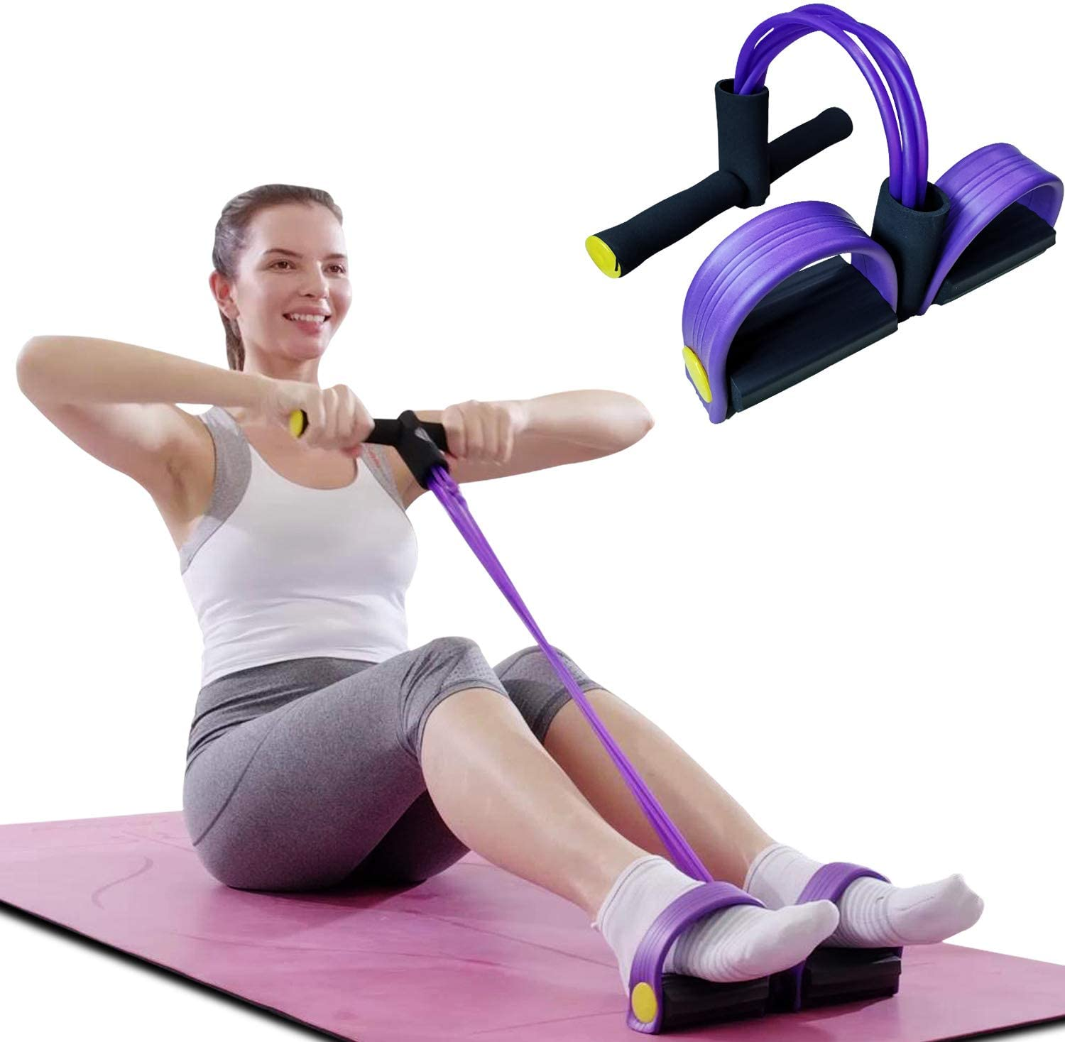 Amazon Com Harison Pedal Resistance Band Fitness Bodybuilding Expander Pull Rope For Core Ab Exercise Legs Yoga Slimming Training Workouts And Home Gym Stretching Training Sports Outdoors